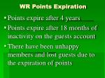 wr points expiration