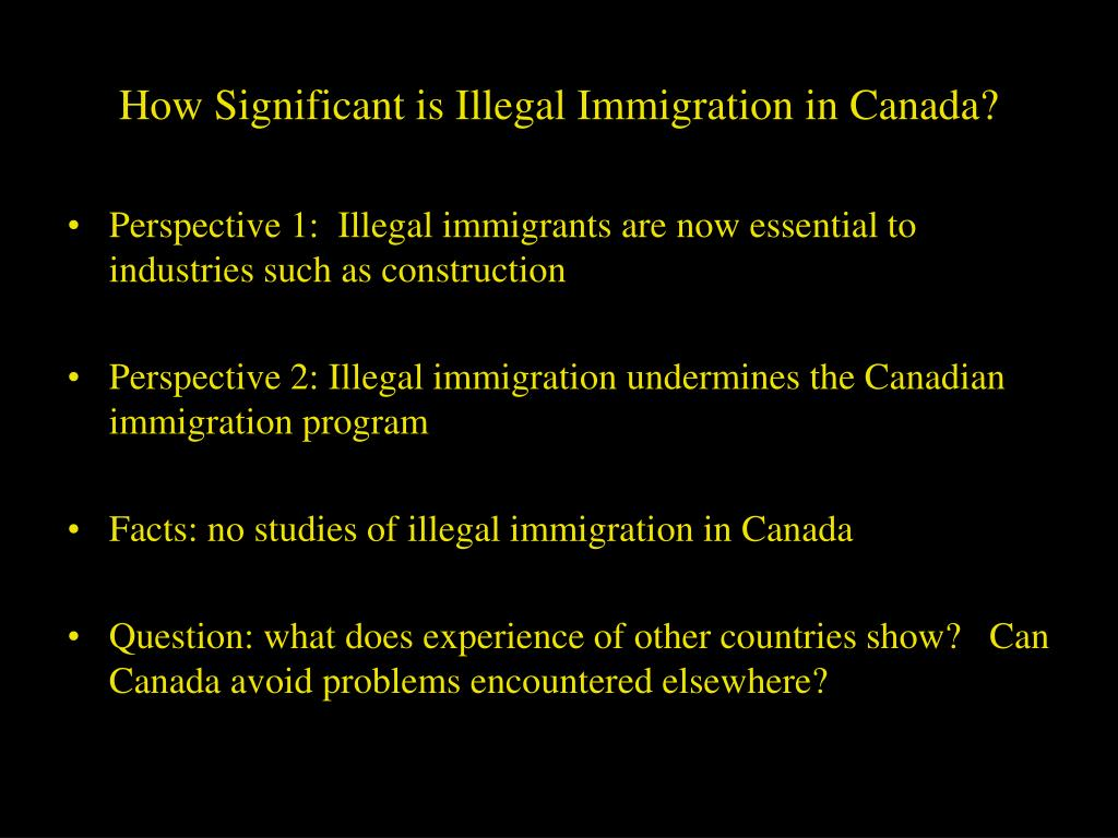 How Significant is Illegal Immigration in Canada?