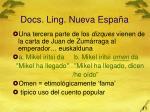 docs ling nueva espa a