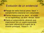 evoluci n de un evidencial