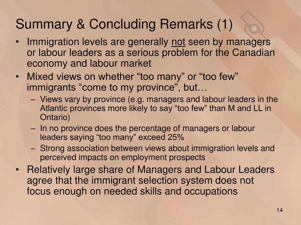 Summary & Concluding Remarks (1)