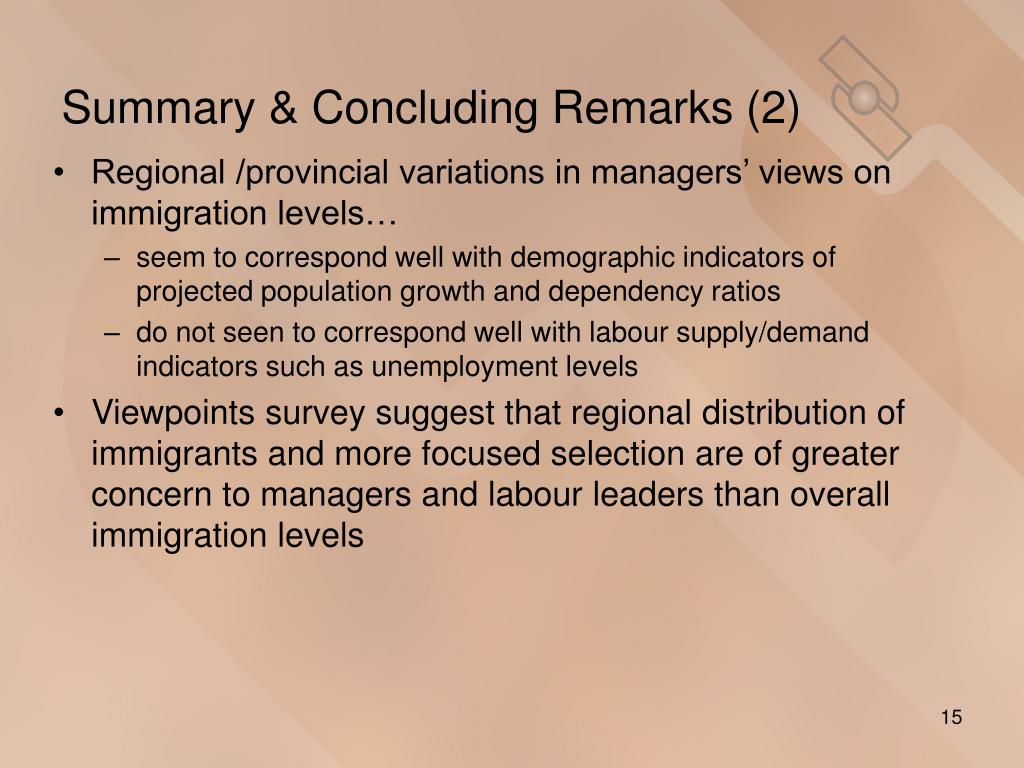 Summary & Concluding Remarks (2)