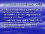 key performance indicators kpis