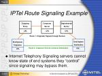 iptel route signaling example