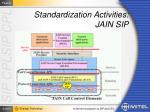 standardization activities jain sip60