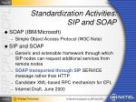 standardization activities sip and soap