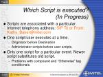 which script is executed in progress