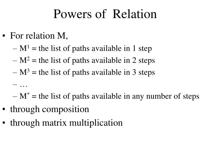 Powers of  Relation