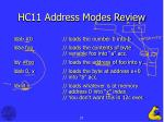 hc11 address modes review