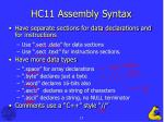 hc11 assembly syntax