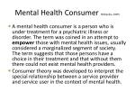 mental health consumer wikipedia 2009
