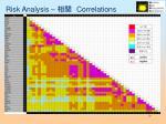 risk analysis correlations