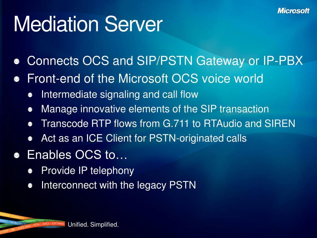 Mediation Server
