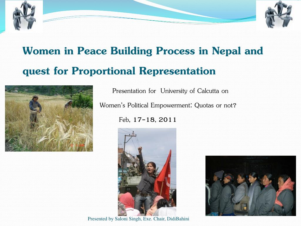 women in peace building process in nepal and quest for proportional representation l.