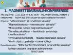 1 magneettisairaala konferenssi