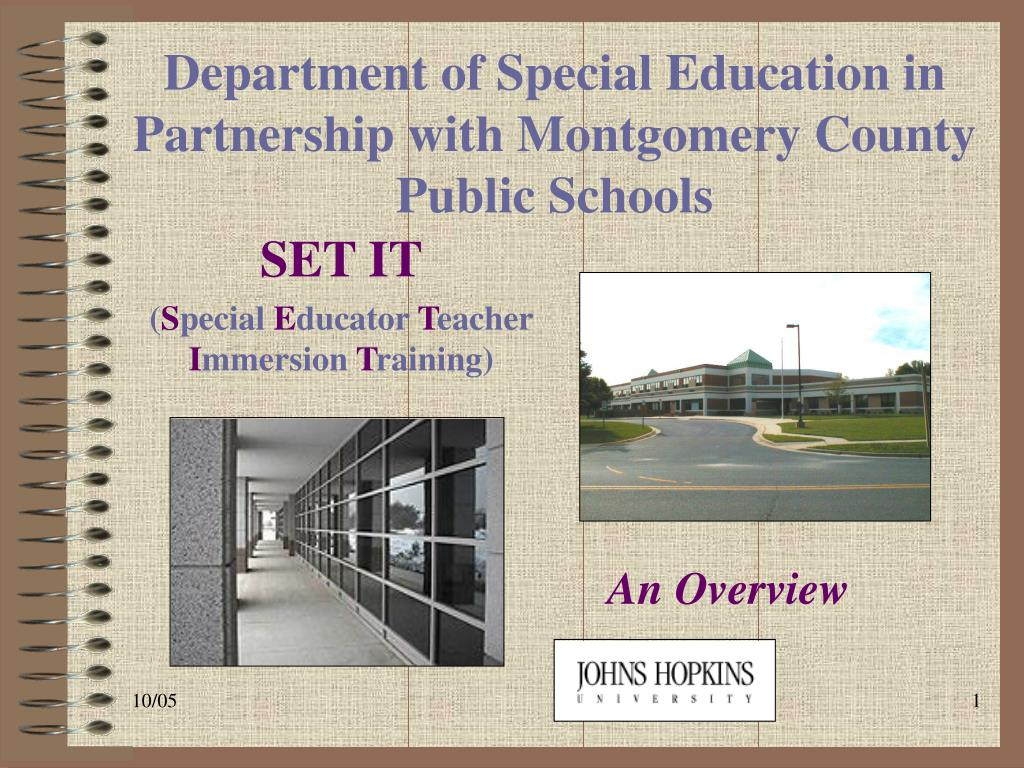 department of special education in partnership with montgomery county public schools l.