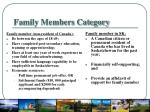 family members category