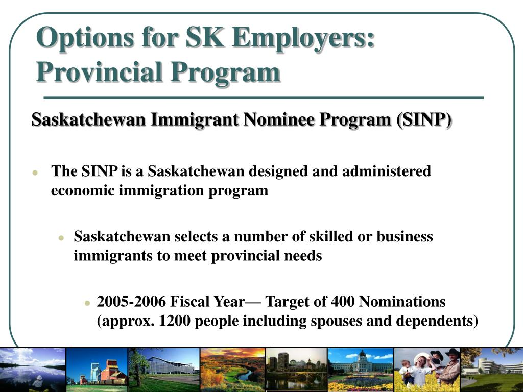 Options for SK Employers: