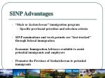 sinp advantages