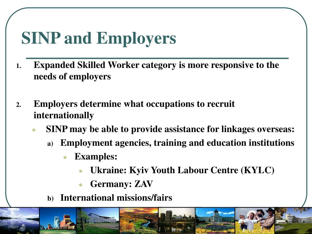 SINP and Employers