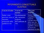 riferimento concettuale olistico