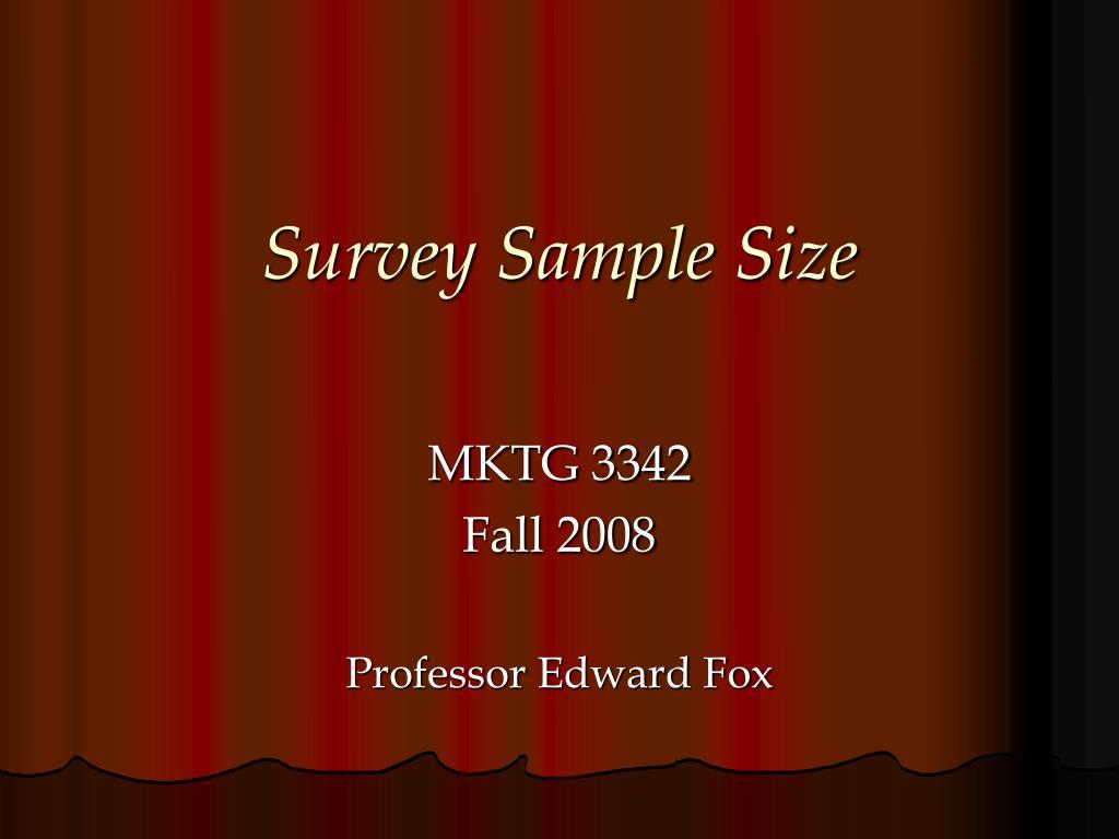 survey sample size l.
