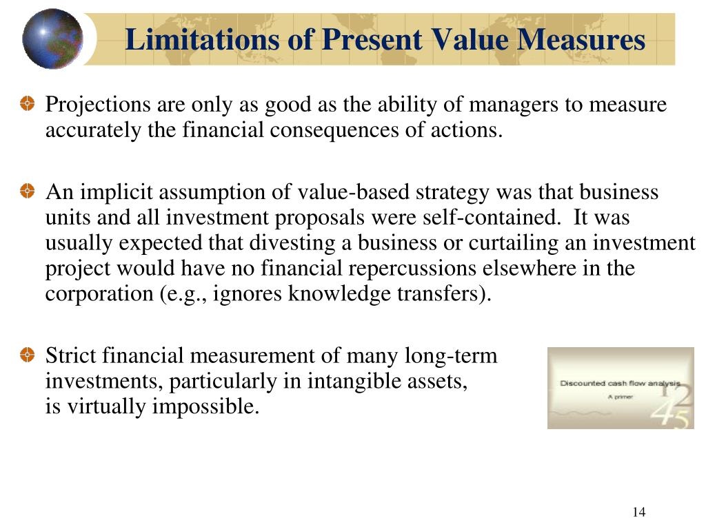 Limitations of Present Value Measures