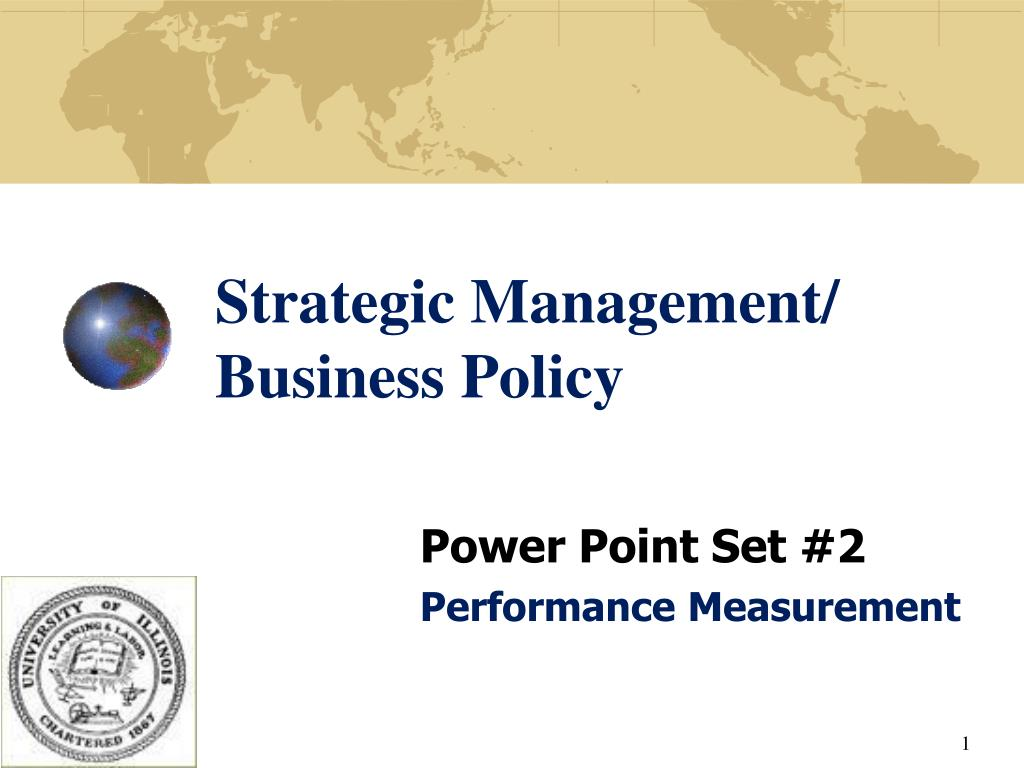 strategic management business policy l.