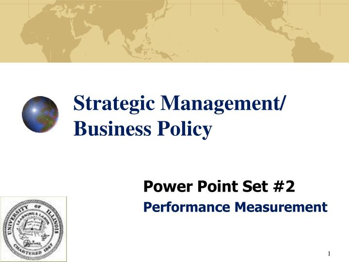 Strategic management business policy
