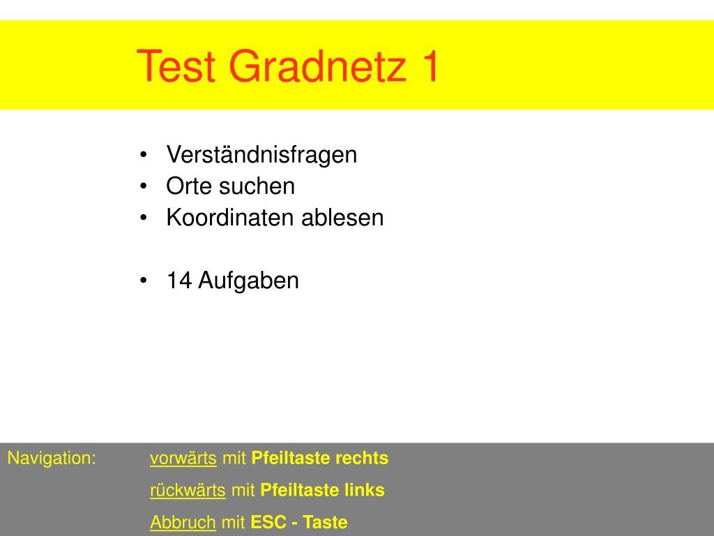 test gradnetz 1 l.