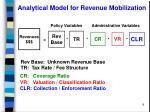 analytical model for revenue mobilization