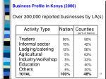 business profile in kenya 2000