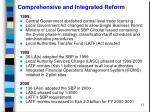 comprehensive and integrated reform