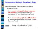reduce administrative compliance costs