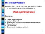 the critical obstacle