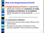 what is the single business permit