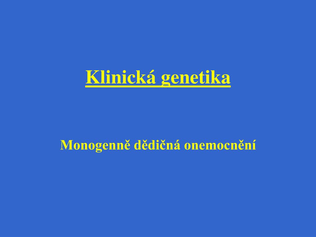 klinick genetika l.