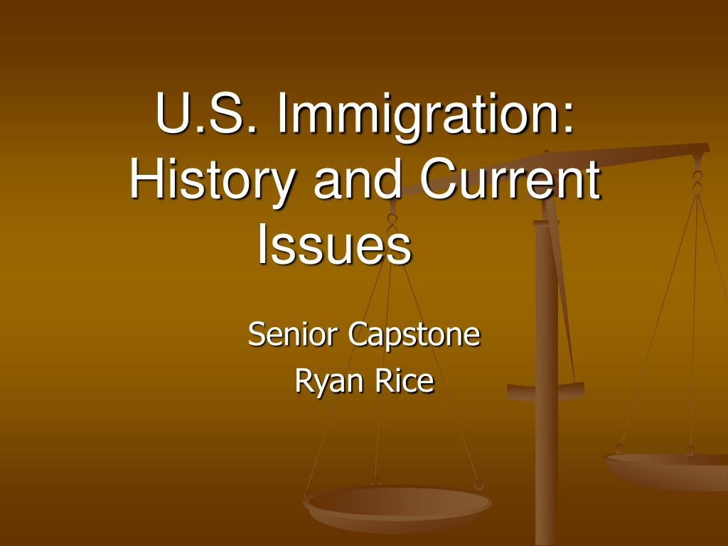 u s immigration history and current issues l.