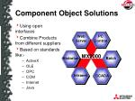component object solutions