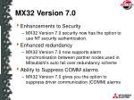 mx32 version 7 03