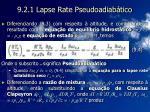 9 2 1 lapse rate pseudoadiab tico16