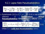 9 2 1 lapse rate pseudoadiab tico17