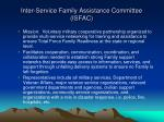 inter service family assistance committee isfac