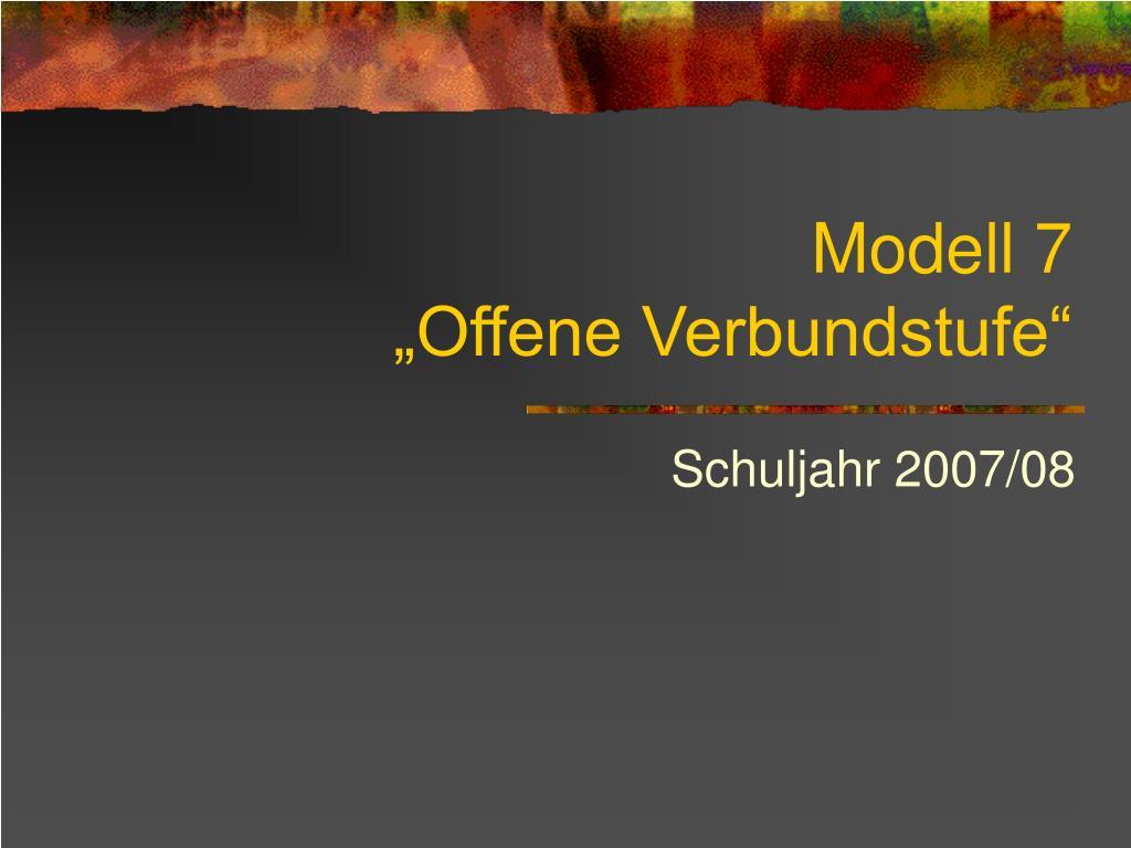 modell 7 offene verbundstufe l.