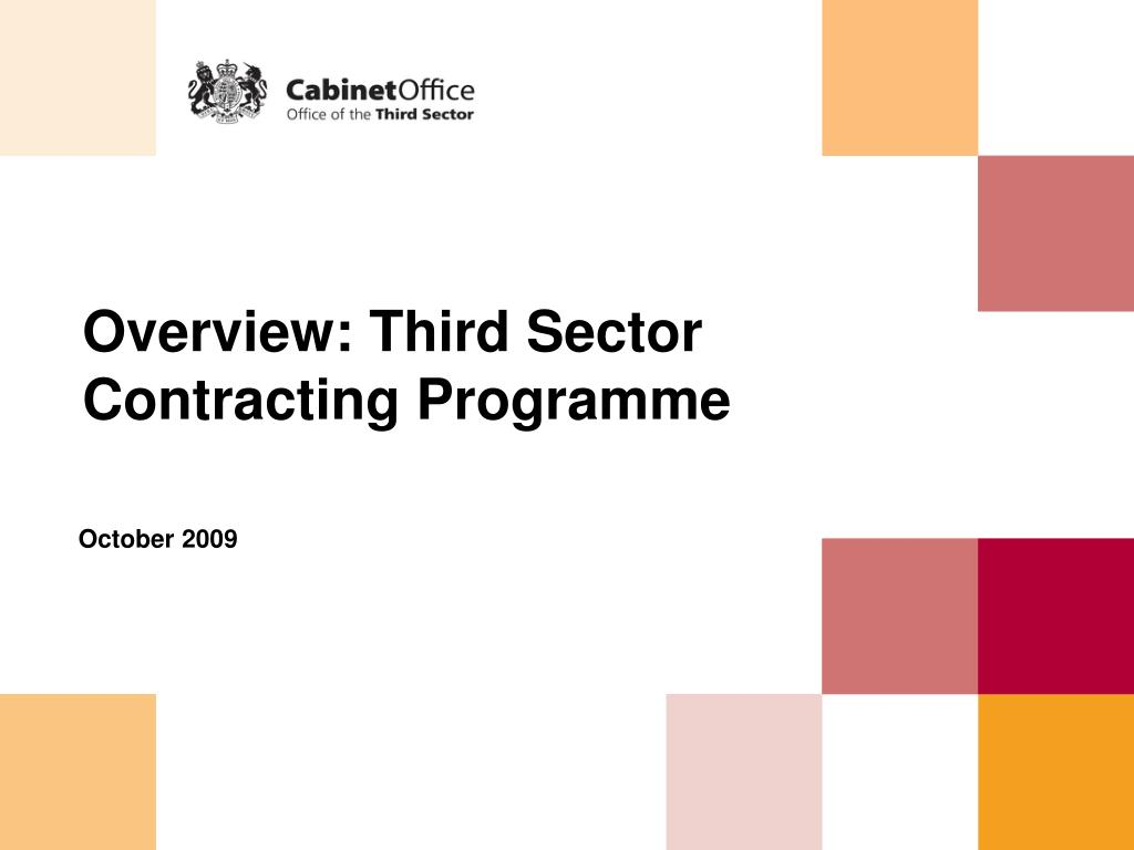 overview third sector contracting programme l.