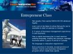 entrepreneur class