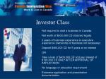 investor class
