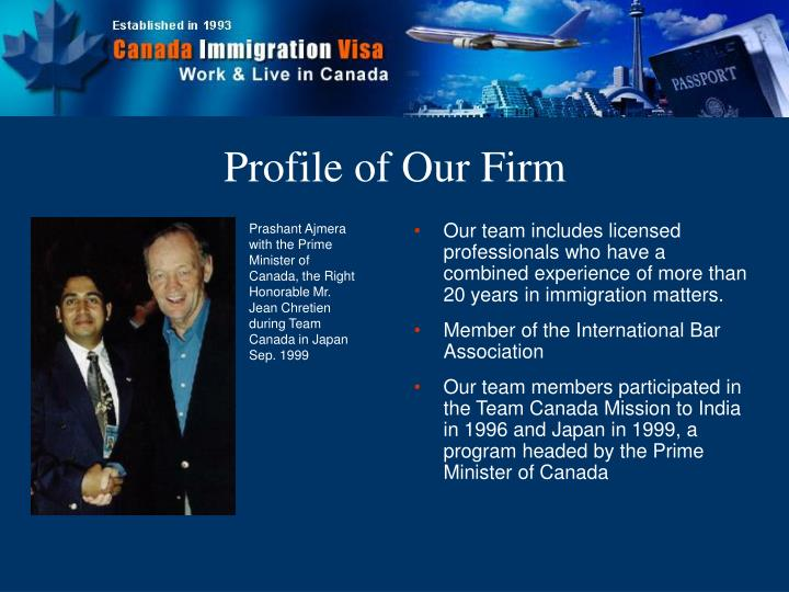 Profile of our firm3