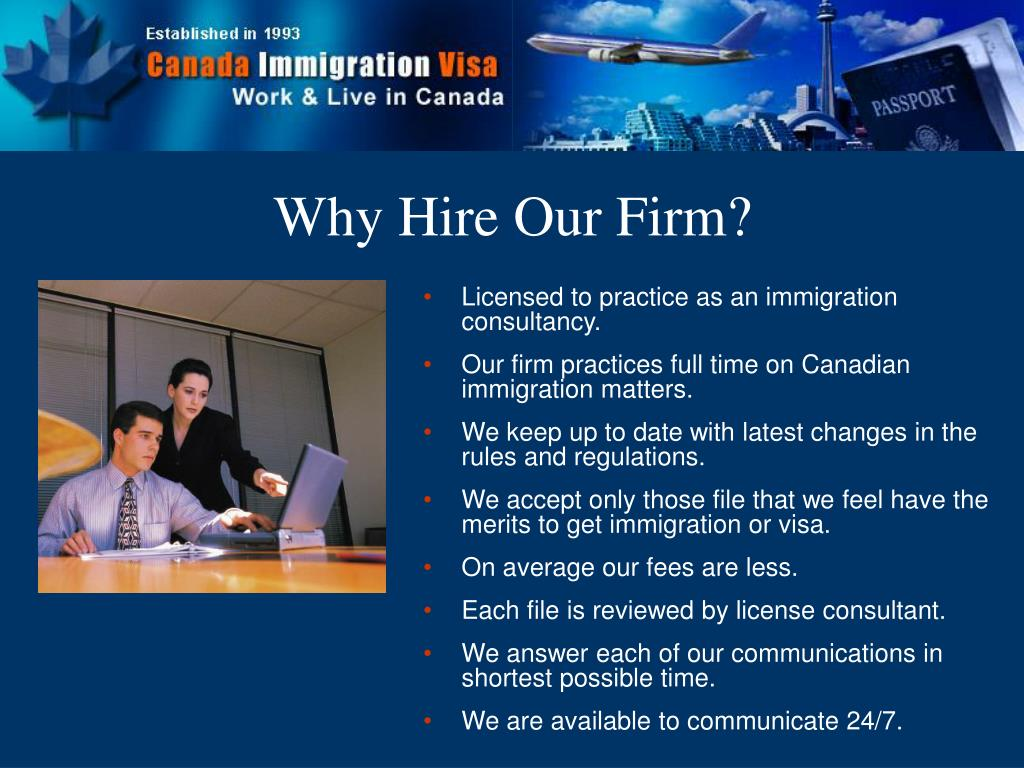 Licensed to practice as an immigration consultancy.