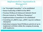implementation organisation management